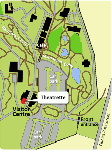 Map of the Gardens showing the Theatrette